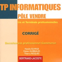 Natalie Elhage et Fabien Guibbaud - TP informatiques pôle vendre 1e et Tle Bac pro commerce - Corrigé. 1 Cédérom