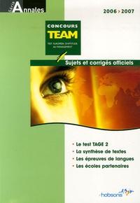 Nathalie Auguste Dormeuil - Annales TEAM Concours 2006 - Sujets et corrigés officiels.
