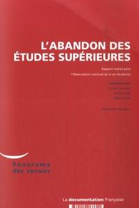 Nathalie Beaupère et Lucile Chalumeau - L'abandon des études supérieures.