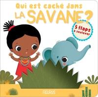 Nathalie Bélineau et  Leaf Illustration - Qui est caché dans la savane ?.