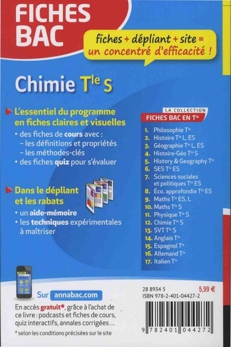 Chimie Tle S enseignement spécifique  Edition 2018