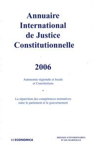 Nathalie Bernard-Maugiron et François Barque - Annuaire International de Justice Constitutionnelle - Tome 22.