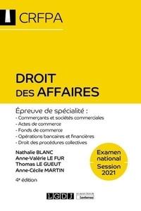 Nathalie Blanc et Anne-Valérie Le Fur - Droit des affaires.