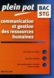 Nathalie Cansouline et Laurence Loux - Communication et gestion des ressources humaines bac STG.