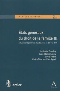 Era-circus.be Etats généraux du droit de la famille - Volume 3, Actualités législatives et judiciaires en 2017 et 2018 Image