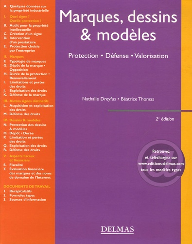 Nathalie Dreyfus et Béatrice Thomas - Marque, dessins & modèles - Protection, Défense, Valorisation.