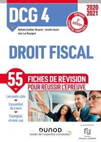 Nathalie Gonthier-Besacier et Jennifer Gasmi - DCG 4 Droit fiscal - Fiches de révision - 2020-2021.