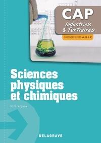 Nathalie Granjoux - Sciences physiques et chimiques CAP industriels & tertiaires - Groupements A, B & C.
