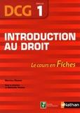 Nathalie Hector et Martine Pimont - Introduction au droit DCG 1.