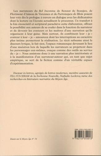 Les figures du narrateur dans le roman médiéval. Le Bel Inconnu, Florimont et Partonopeu de Blois