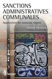 Nathalie Patouossa - Sanctions administratives communales - Application du nouveau régime.