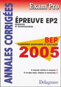 Corridashivernales.be BEP Carrières Sanitaires et sociales, EP2 Sciences et Technologies - Annales corrigées Image