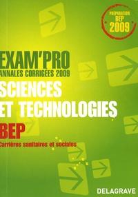 Nathalie Vouriot-Gieure - Sciences et technologies épreuve EP2 BEP CSS - Annales corrigées.