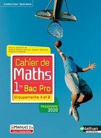Nathan - Cahier de maths 1re Bac Pro - Groupements A et B - Livre et licence élève.