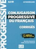 Nathan - Corrigés conjugaison progressive niveau intermédiaire.