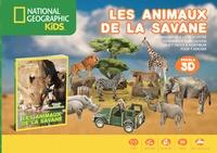 Les animaux de la savane - Un magnifique livre illustré, 12 animaux à découvrir, un kit facile à assembler pour tamuser.pdf