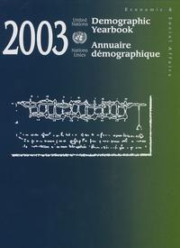 Nations Unies - Annuaire démographique 2003.