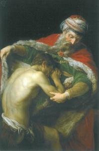 Nc. - Cartes Acte de contrition (Le retour du Fils Prodigue, Pompeo Batoni, 1773) par lot de 20 ex - cartes postales et objets.