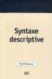 Nebil Radhouane - Syntaxe descriptive.