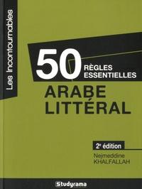 50 règles essentielles en arabe littéral.pdf