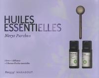 Nerys Purchon - Coffret Huiles essentielles - 1 livre + 1 diffuseur + 2 flacons d'huiles essentielles.