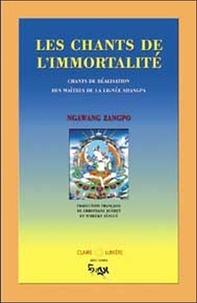 Ngawang Zangpo - Les chants de l'immortalité - Chants de réalisation des maîtres de la lignée Shangpa.