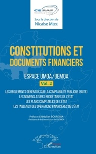 Nicaise Médé - Constitutions et documents financiers - Espace UMOA/UEMOA, volume 2.