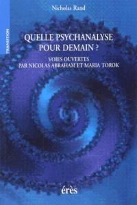 Deedr.fr Quelle psychanalyse pour demain ? Voies ouvertes par Nicolas Abraham et Maria Torok Image