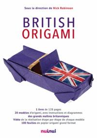 Nick Robinson - British origami - Coffret contenant 1 livre de 20 modèles et 100 feuilles de papier origami grand format.