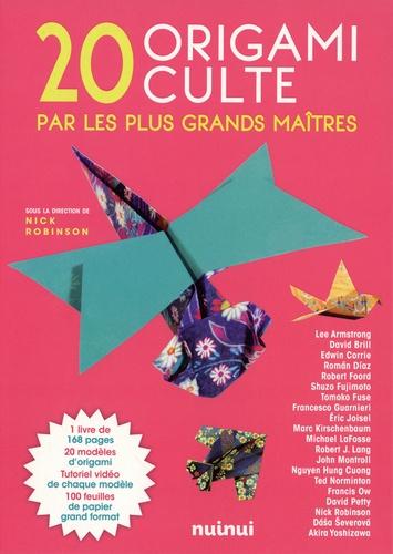 Coffret 20 origami culte par les plus grands maîtres. Le livre avec 100 feuilles de papier
