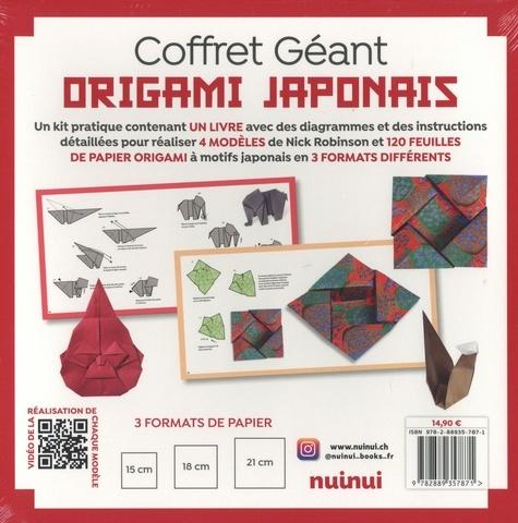 Coffret géant Origami japonais. Avec un livre et 120 feuilles de papier origami