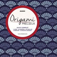 Nick Robinson - Origami précieux - Kit complet comprenant : 1 livre, 10 modèles, 80 feuilles d'origami, 20 motifs japonais.