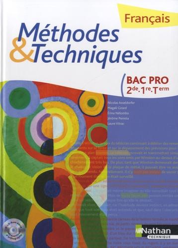 Francais Bac Pro 2de 1e Tle Methodes Et Techniques