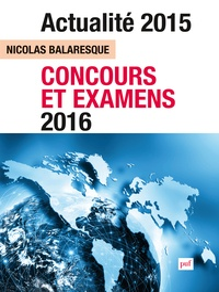 Nicolas Balaresque - Actualité 2015 - Concours et examens 2016.