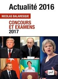 Nicolas Balaresque - Actualité 2016 - Concours et examens 2017.