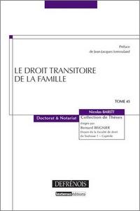 Nicolas Bareït - Le droit transitoire de la famille.
