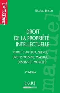 Nicolas Binctin - Droit de la propriété intellectuelle - Droit d'auteur, brevet, droits voisins, marque, dessins et modèles.
