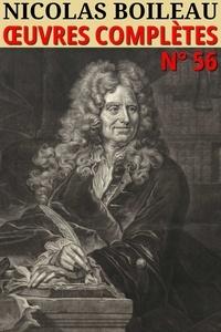 Nicolas Boileau - Nicolas Boileau - Oeuvres complètes - Classcompilé n° 56.