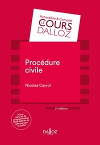 Procédure civile - Nicolas Cayrol pdf epub