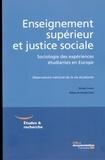 Nicolas Charles - Enseignement supérieur et justice sociale - Sociologie des expériences étudiantes en Europe.
