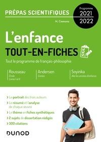 Nicolas Cremona - L'enfance - Tout-en-fiches - Prépas scientifiques Français-philosophie - Programme 2021-2022.