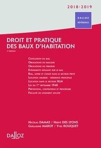 Nicolas Damas et Hervé Des Lyons - Droit et pratique des baux d'habitations.