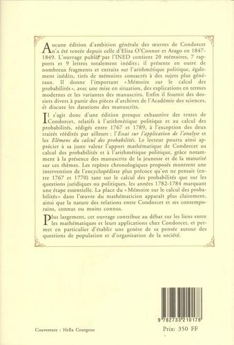 Arithmétique politique. Textes rares ou inédits (1767-1789)