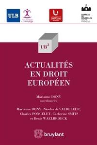 Nicolas De Sadeleer et Charles Poncelet - Actualités en droit européen.