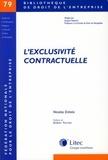 Nicolas Eréséo - L'exclusivité contractuelle.