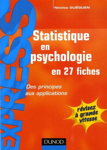 Nicolas Guéguen - Statistiques en psychologie.