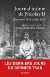 Nicolas II - Journal intime - Décembre 1916-juillet 1918.