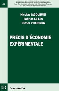 Télécharger des manuels électroniques Précis d'économie expérimentale