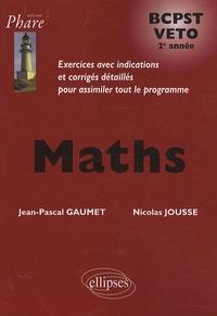 Maths BCPST VETO 2e année - Nicolas Jousse pdf epub