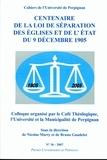 Nicolas Marty - Centenaire de la loi de séparation des Eglises et de l'Etat du 9 décembre 1905, 1905-2005 - Colloque organisé par le Café Théologique, l'Université et la Municipalité de Perpignan.